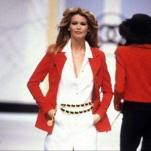 Rare Chanel Vintage Spring 1993 Red 93P Jacket